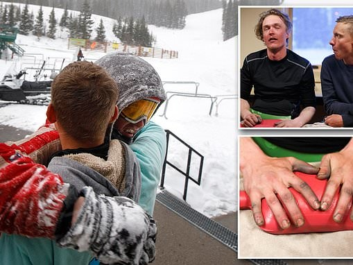 Ski patrol rescues snowboarder who got stuck in freezing cold for FIVE HOURS behind Colorado resort