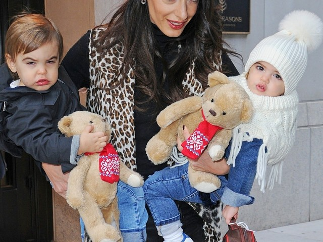 OMG: Amal Clooney steps out in NYC with twins Alexander & Ella