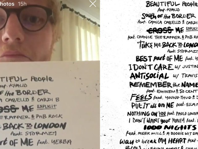 Ed Sheeran Announced the Epic List of Featured Artists on His New Album in the Most Ed Way Possible