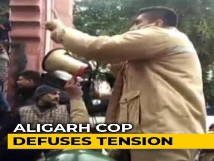 How A UP Cop Used Tact To Handle AMU Student Protests On Citizenship Act