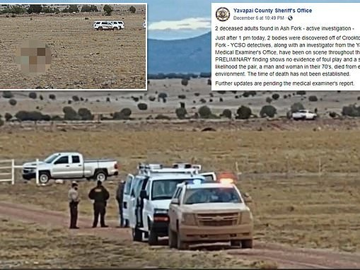 Elderly Arizona couple found dead after they got buried in snow