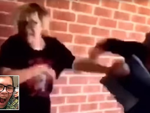 Two high school girls caught on video hitting, kicking and bullying a boy with autism
