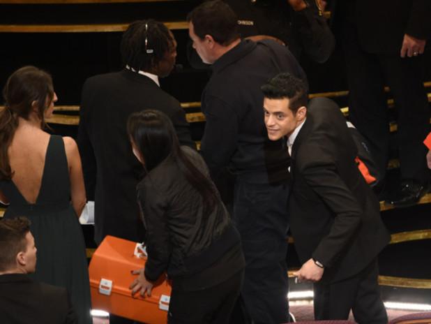 Rami Malek Treated By Paramedics After Fall At Oscars