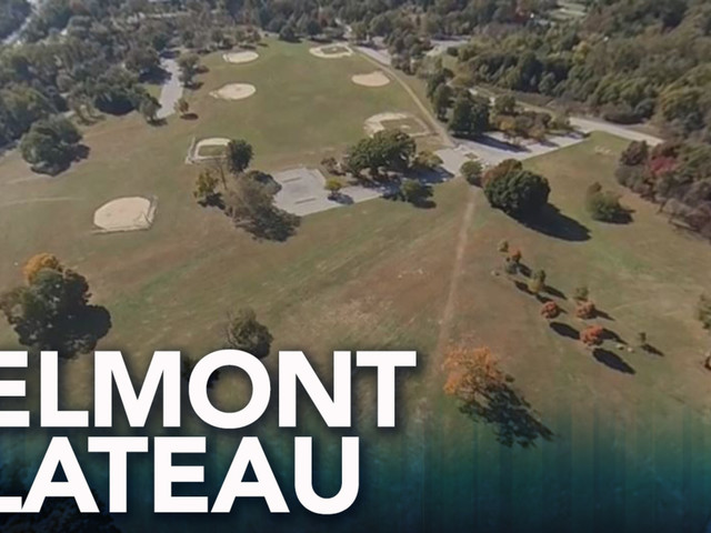 Drone 360 view of Belmont Plateau