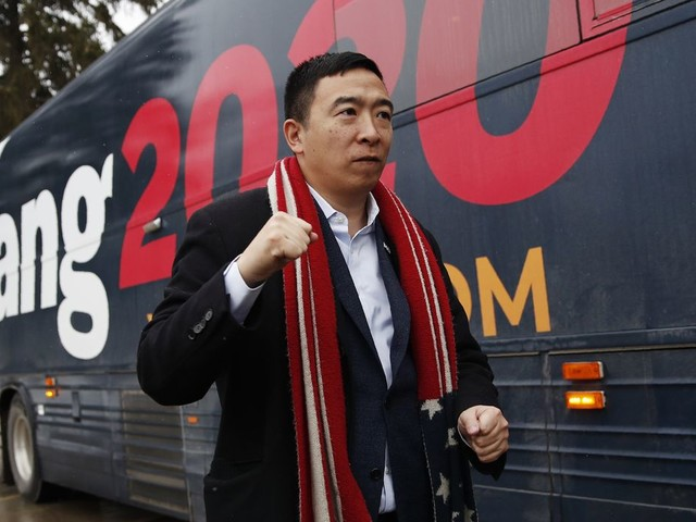 Andrew Yang qualifies for Democratic debate on February 7