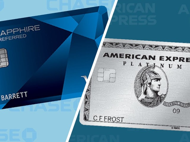 We compared the Chase Sapphire Preferred to the Amex Platinum — and the winner isn't clear-cut