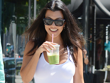 Kourtney Kardashian Slays In Tight White Top With Nothing Underneath During Palm Springs Road Trip