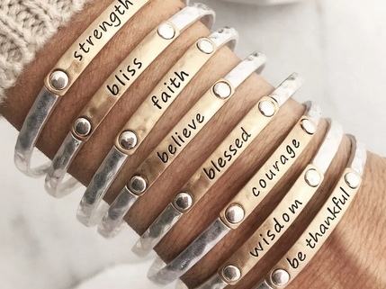 Inspiration Words Stacking Bangles only $9.99 shipped!