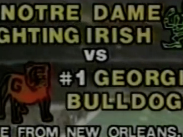 The last time Georgia won the national title, a key freshman and Notre Dame were involved. Sound familiar?
