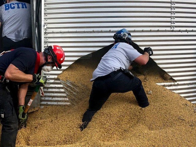 Buried alive in beans: 'Grain entrapment' calls for specialized rescue training