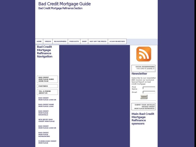 Bad Credit Mortgage Refinancin