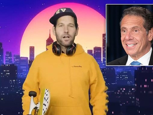 Cuomo gets Paul Rudd, 51, to star as a 'millennial' imploring young people to wear a mask