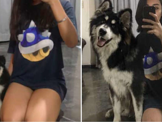 Girl Takes Same Photo With Her Dog Every Month As He Grows Up