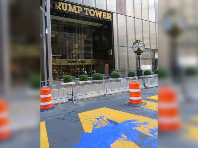 Woman arrested for defacing Black Lives Matter mural outside Trump Tower