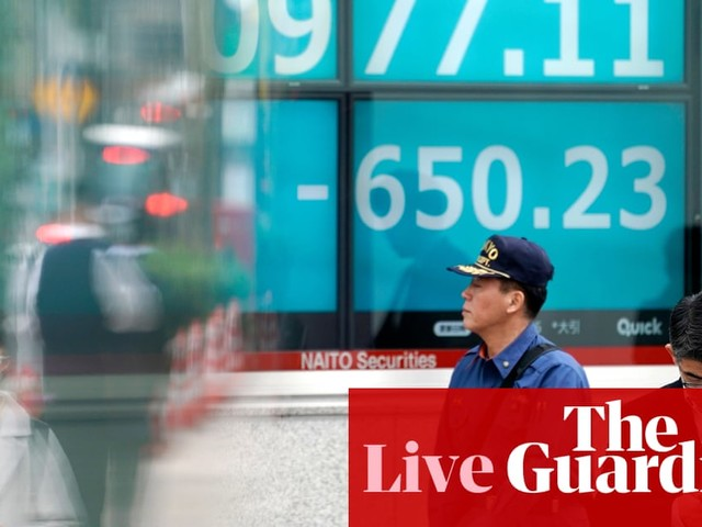 Recession fears hit global markets, but German morale improves - business live