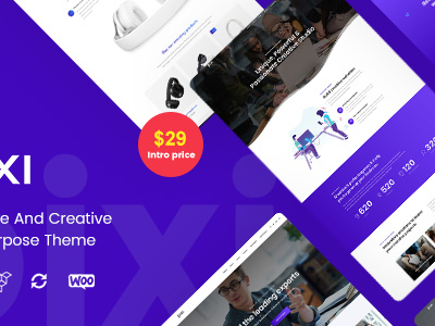 Pixi - Creative Multi-Purpose WordPress Theme (Creative)