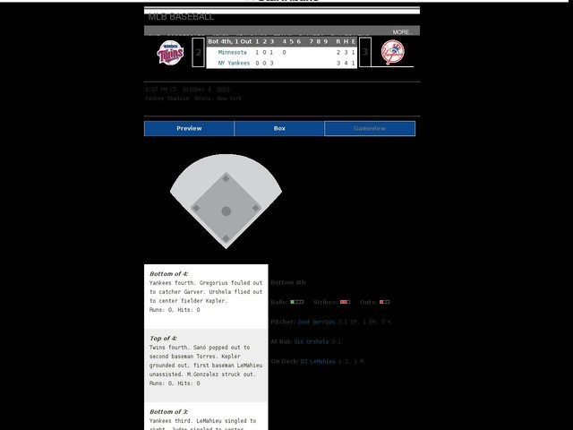 Gameview: Follow Game 1 of the Twins-Yankees ALDS series here