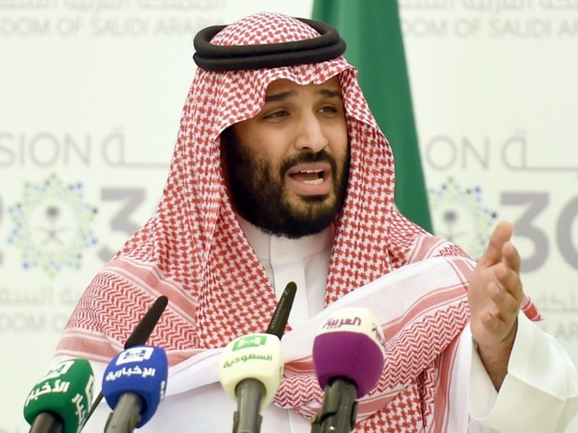 Saudi Arabia's Crown Prince reportedly said Palestinians should accept peace or 'shut up and stop complaining'