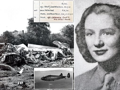 Forgotten sacrifice of last British female pilot to be killed in World War Two