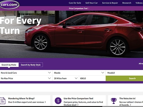Cars.com buys Chicago firms for $165 million