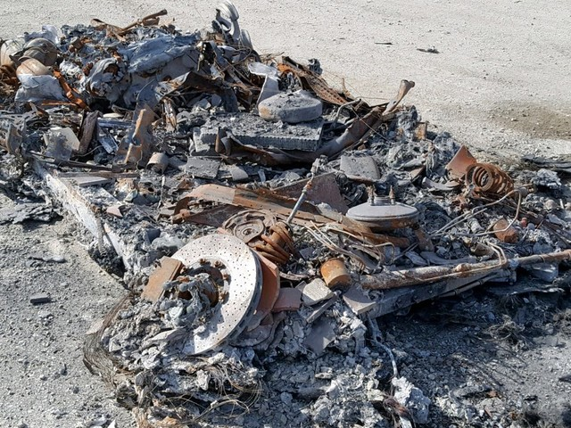 Totally Burnt Out Ferrari 458 Spider Is Unrecognizable, Yet Up For Sale