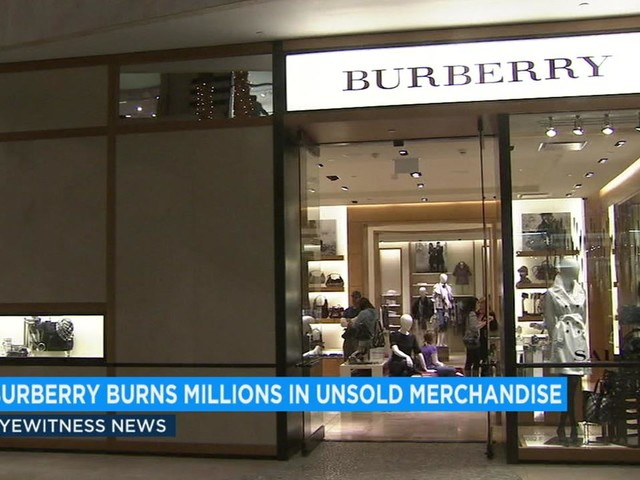 Luxury brand Burberry burned more than $33M of its own merchandise