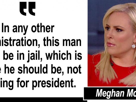 Eric Holder Running for President in 2020? Meghan McCain Says He Should Be in Jail