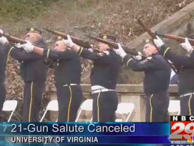 University of Virginia ends 21-gun salute for Veterans Day because 'panic' may result due to 'gun violence in the US'