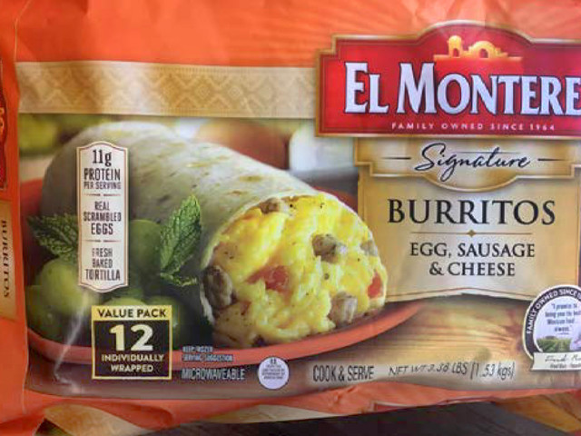 RECALL: Frozen Burritos for Plastic Pieces