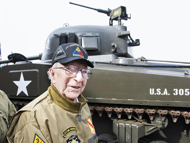 WWII Veteran Takes One More Ride in Sherman Tank