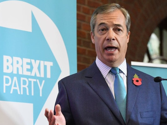 Nigel Farage says the Brexit Party will contest 'every single seat' in Britain at the election unless Johnson ditches his deal