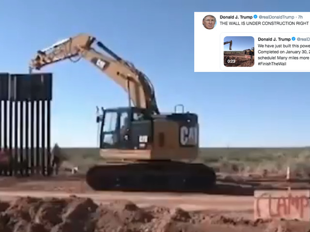 Trump is again using old videos to claim his border wall is 'under construction