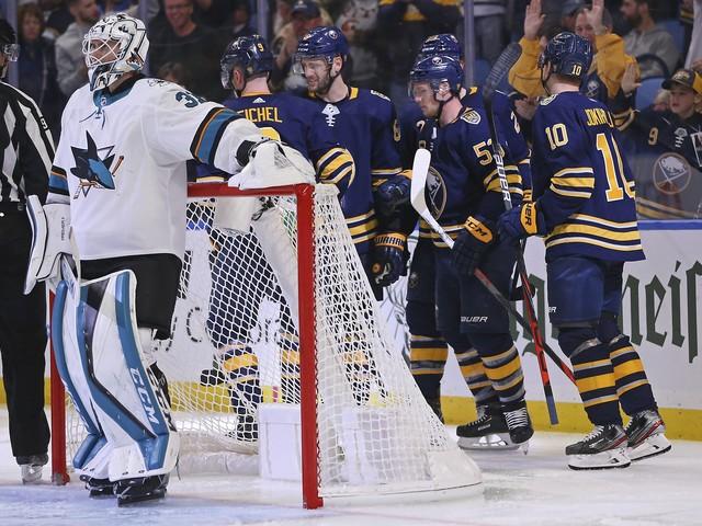 Jack Eichel's goal lifts Sabres over Sharks