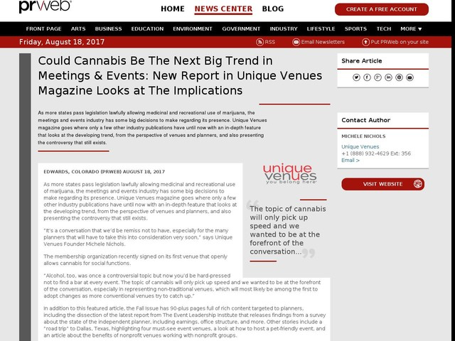 Could Cannabis Be The Next Big Trend in Meetings & Events: New...