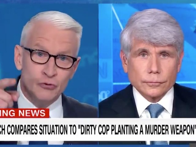 'It's still frankly just bulls---': Anderson Cooper calls out former Illinois Gov. Rod Blagojevich for claiming he's a 'political prisoner'