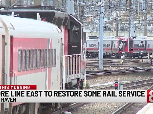Shore Line East to restore some rail service