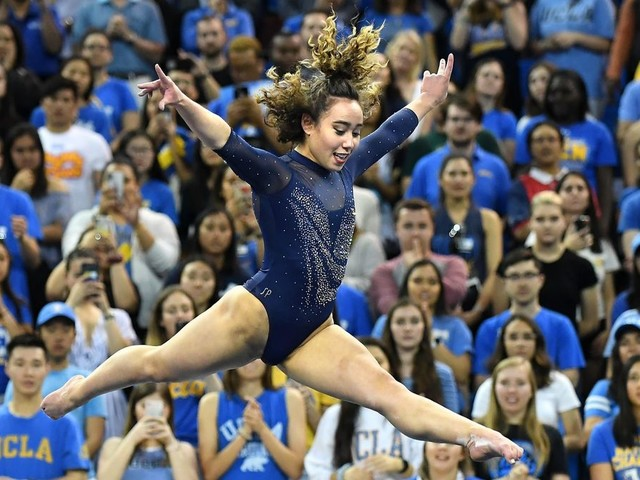UCLA gymnast Katelyn Ohashi hopes to run the floor with her new Beyoncé-inspired routine