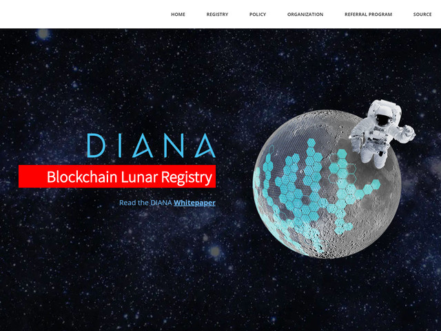 Diana, Launching a 'Blockchain Lunar Registry' For the First...