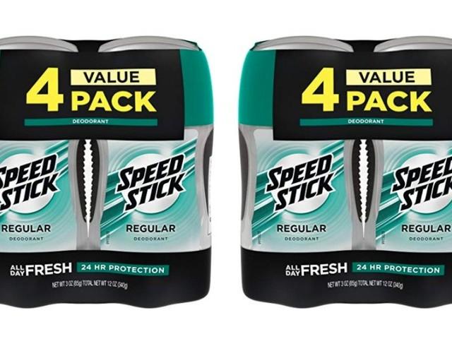 Stock Up Price! Speed Stick Deodorant for Men, Regular – 3 Ounce (4 Pack)