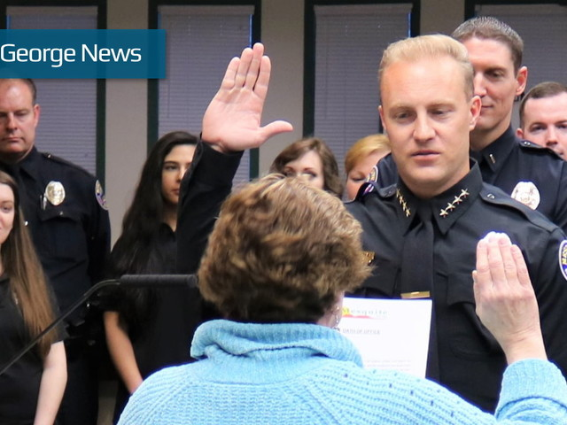 Chesley sworn in as Mesquite's new police chief; formerly with St. George Police