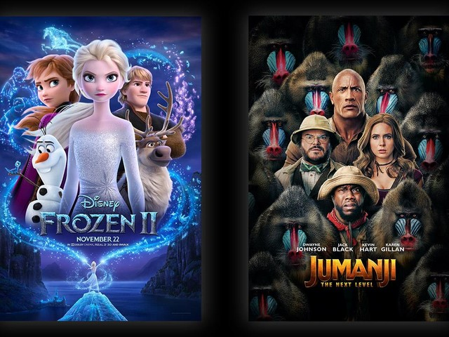 Jumanji: The Next Level, Frozen 2 Rule Weekend Global Box Office