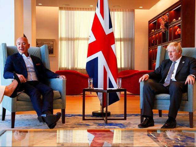 Jeff Bezos, Boris Johnson Meet During UNGA