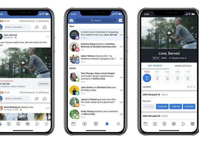 Facebook movie ads will now include ticket and showtime details