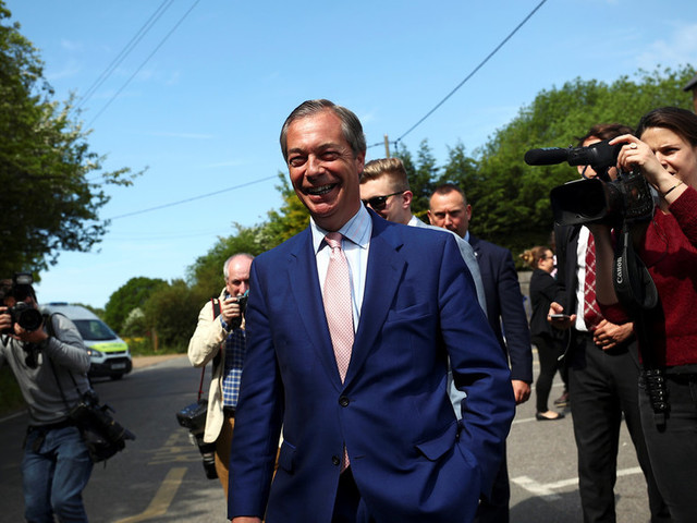 Nigel Farage's Brexit party sails to victory in EU elections – exit polls