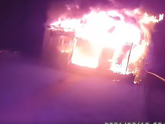 Upstate New York cop hailed a hero after rescuing family from burning home