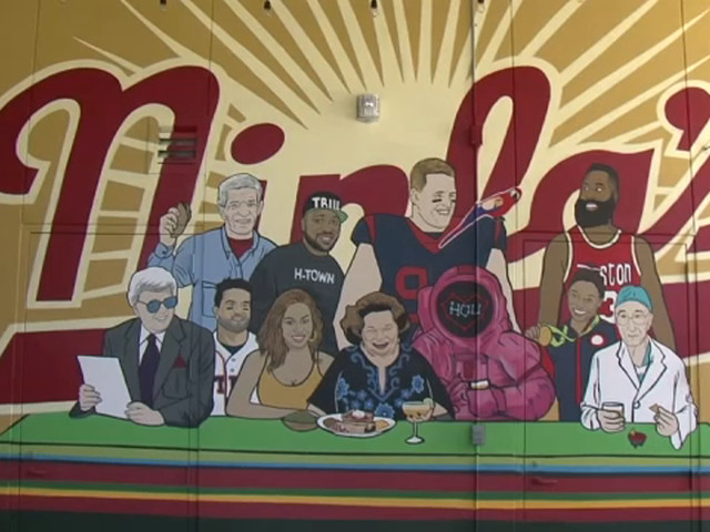 Marvin Zindler showcased among other notable H-Town celebs on mural at Ninfa's