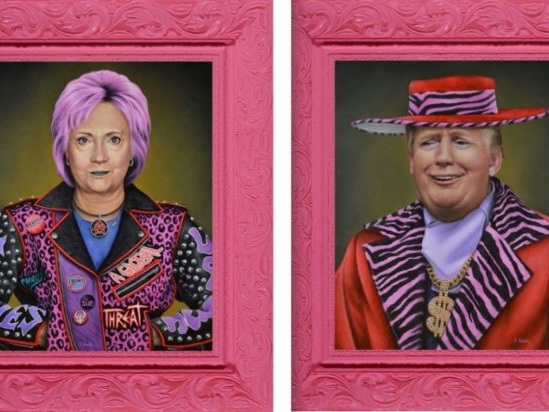 'Punk Hillary' Clinton got an art show shut down after a Republican bomb dog raised suspicions