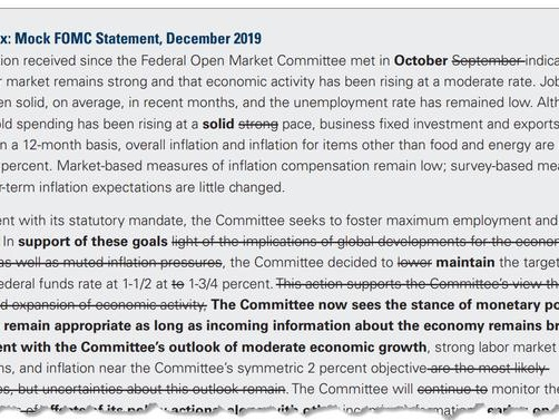 FOMC Preview: Here's What The Fed Will Say Today