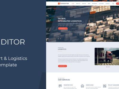 eXpeditors - Transport & Logistics Responsive HTML5 Template (Business)