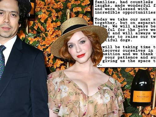 Christina Hendricks and husband Geoffrey Arend announce split after 12 years